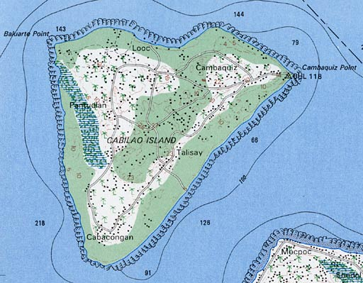 Map of Cabilao Island