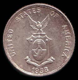 Obverse of Philippine Commonwealth coins.