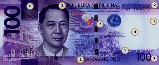 PHP 100 note obverse