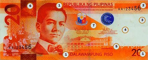 PHP 20 note obverse