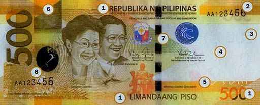 PHP 500 note obverse