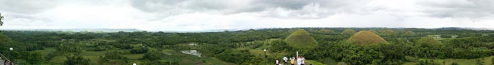 Panorama of the Chocolate Hills