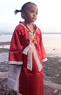 Girl in Korean dress
