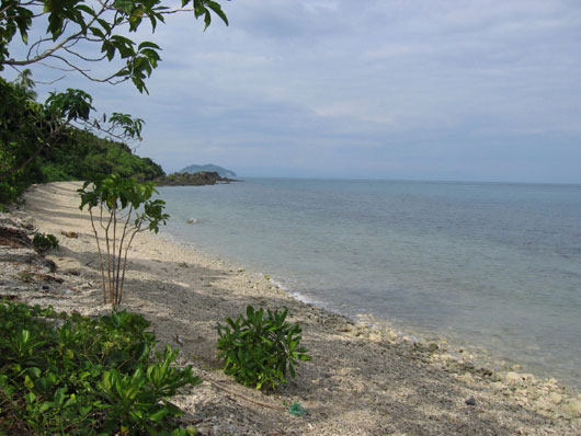 Beach on Lapinig Island