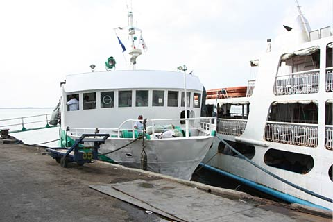 Boat for Bohol on Cebu Pier