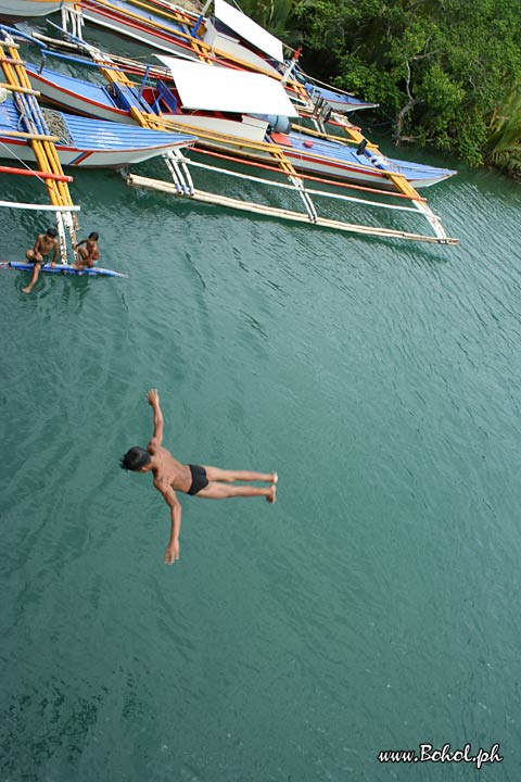 Taking a Dive in Loboc River