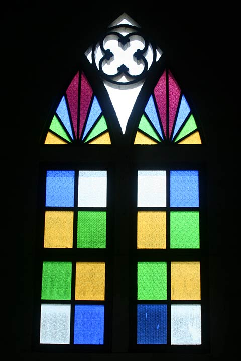 Calape Church colored window