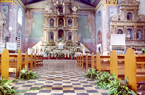 Baclayon church interior