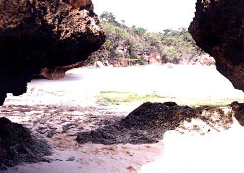 Overhanging Rocks near Anda Beach