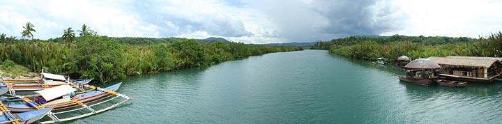 Panorama of Loboc River