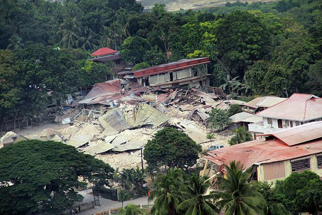 Collapsed School Building in Loon