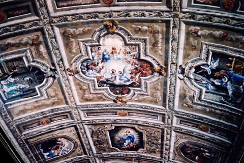 Outer Banks Hotels >> Ceiling Murals in Anda Church