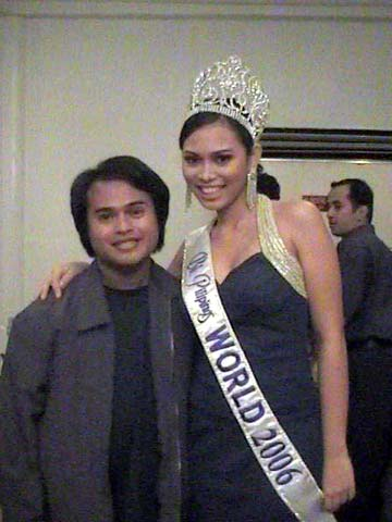 The author with Bb. Pilipinas-World